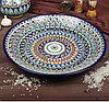 Табак круглый Производство Узбекистан Риштанская керамика (ручная работа) 42 см