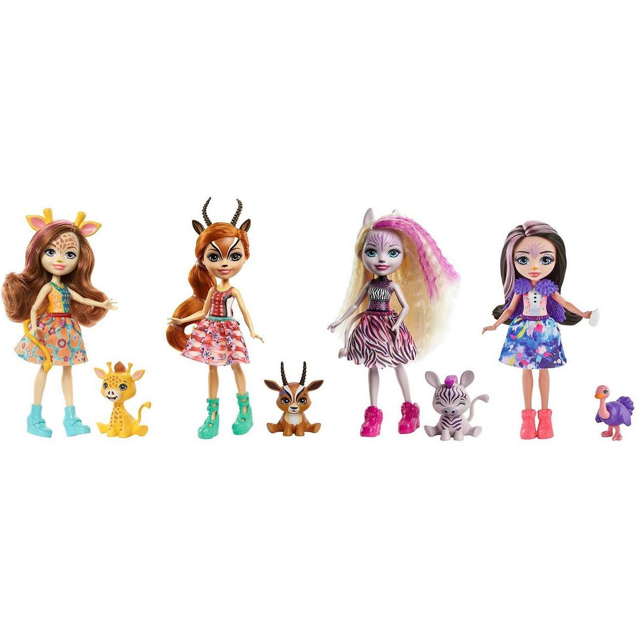 Набор Enchantimals Друзья в Солнечной Саванне куклы питомцы GYN57
