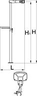 ПРО стенд без опорной плиты, с эксцентриком для регулировки высоты и одними тисками - 1693BQ1 UNIOR, фото 2