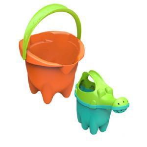 Набор Песочный с лейкой №3 размер Super Normal, 2 предмета (оранжевое ведро)