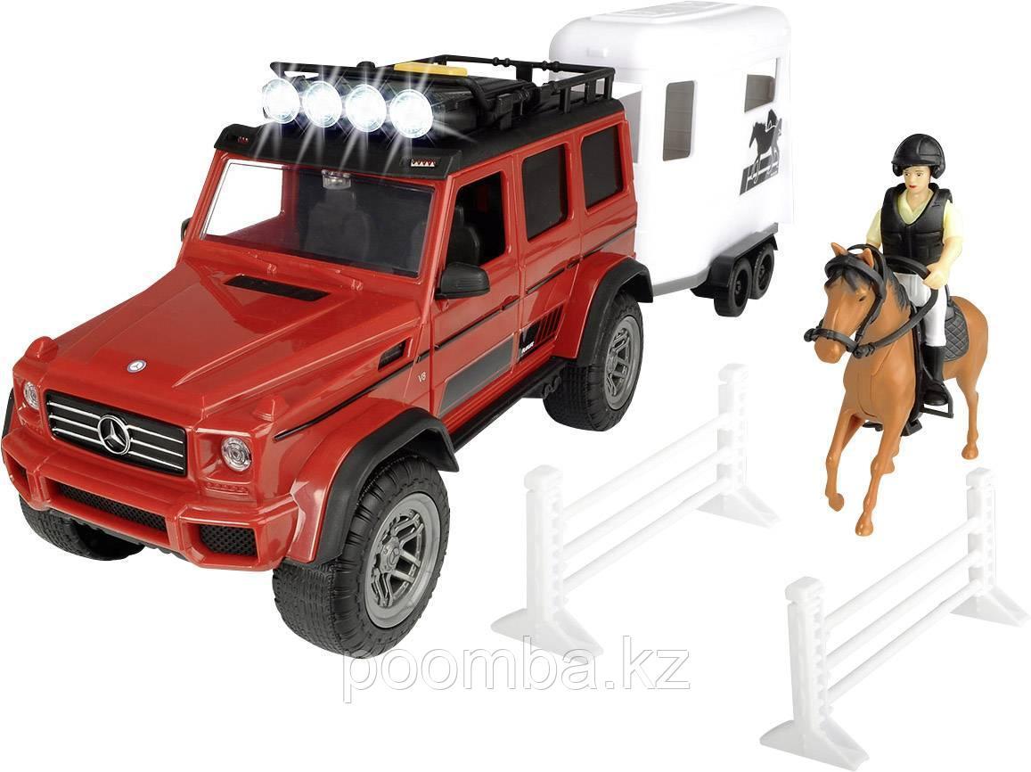 Набор для перевозки лошадей MB AMG 500 4x4²  PlayLife  23 см свет звук Dickie Toys