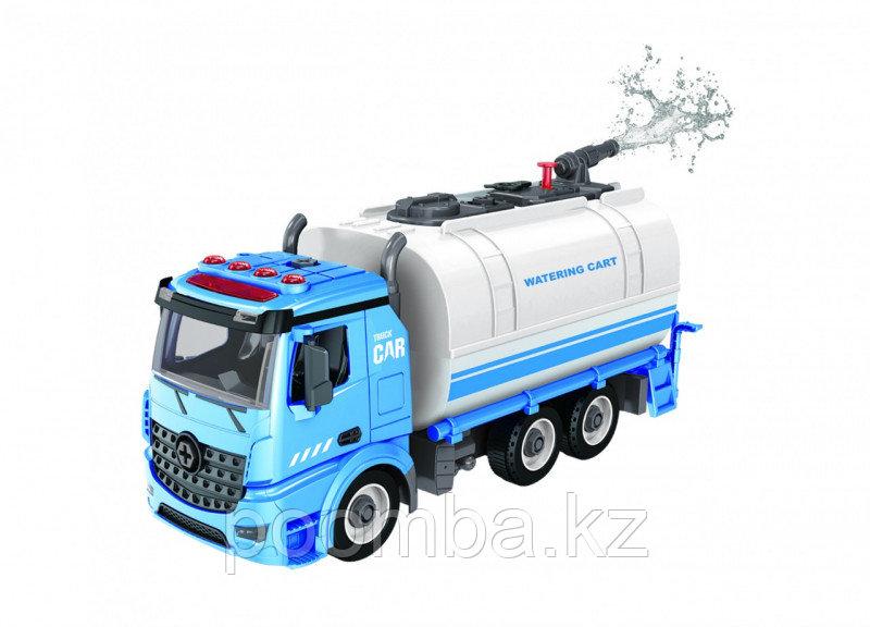 Водовоз-конструктор, фрикционный, свет, звук, вода, 1:12 Funky toys
