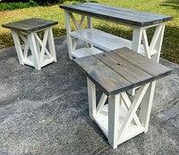 Столы-консоли для спальни деревянные Т-007