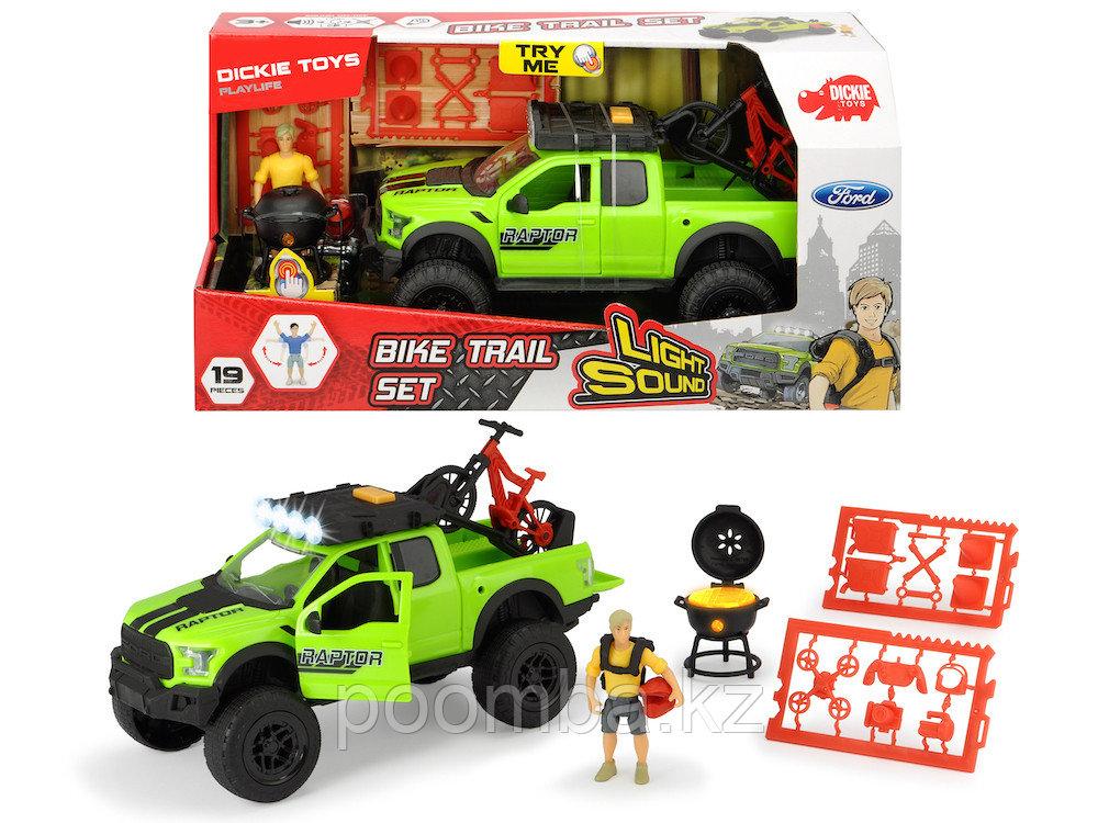 Игровой набор велосипедиста Ford Raptor PlayLife 25 см свет звук Dickie Toys