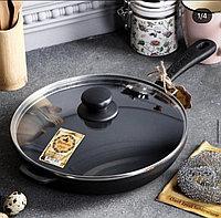 Сковорода чугунная литая, 240 х 40 мм, фото 1