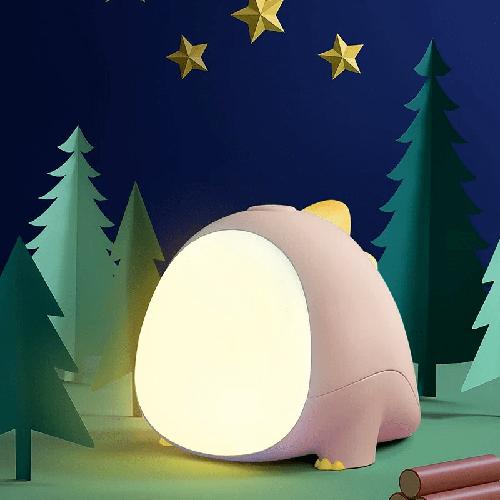 Ночной детский светильник Little Dinosaur розовый