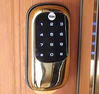 Замок дверной с кодовой панелью Yale YMI70 Золотой