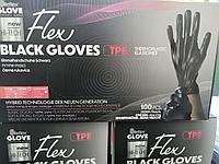 Перчатки нестерильные, гибридная технология. Чёрный