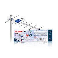 Антенна телевизионная наружная активная, LUMAX, DA2213A, Алюминий + ABS-пластик, Ку до 25 дБ