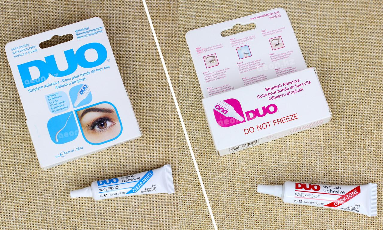 Клей для накладных ресниц DUO, белый/прозрачный, 9 г