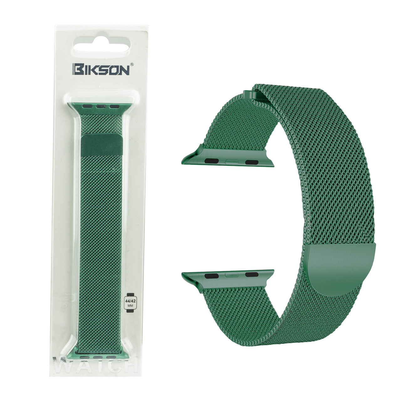 Ремешок For Apple Watch 42mm/44mm Bikson Magnetic Milanese Loop, Green