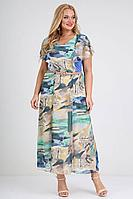Женское летнее шифоновое большого размера платье Ollsy 01194 /1 50р.