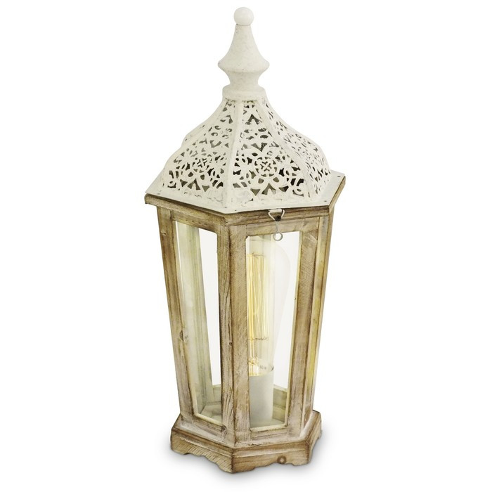 Настольная лампа KINGHORN 1x60Вт E27 белый 15,5x15,5x40,5см