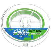 Леска плетёная Intech First Braid PE X4 0,185 мм, 100 м