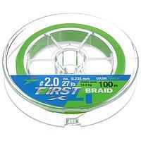 Леска плетёная Intech First Braid PE X4 0,235 мм, 100 м