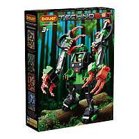 Набор с большим роботом и пилотом Technobot, цвет чёрный, оранжевый, зелёный