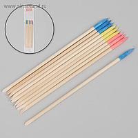 Апельсиновые палочки для маникюра, с абразивным наконечником, 15 см, 10 шт, цвет МИКС