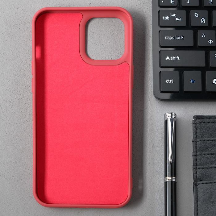 Чехол Activ Full Original Design, для Apple iPhone 12 Pro Max, силиконовый, бордовый - фото 2