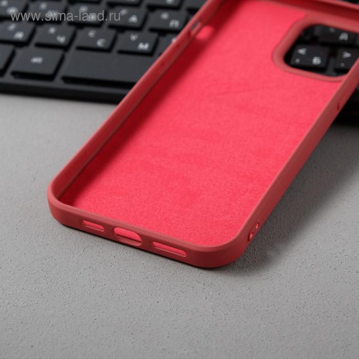 Чехол Activ Full Original Design, для Apple iPhone 12 Pro Max, силиконовый, бордовый - фото 3
