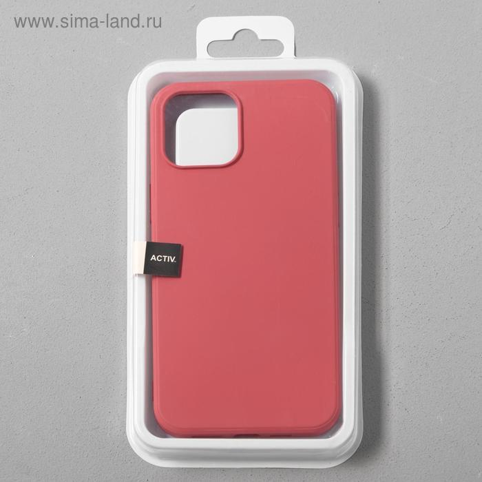 Чехол Activ Full Original Design, для Apple iPhone 12 Pro Max, силиконовый, бордовый - фото 4