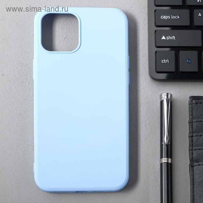 Чехол Activ Full Original Design, для Apple iPhone 12 Pro Max, силиконовый, голубой - фото 1
