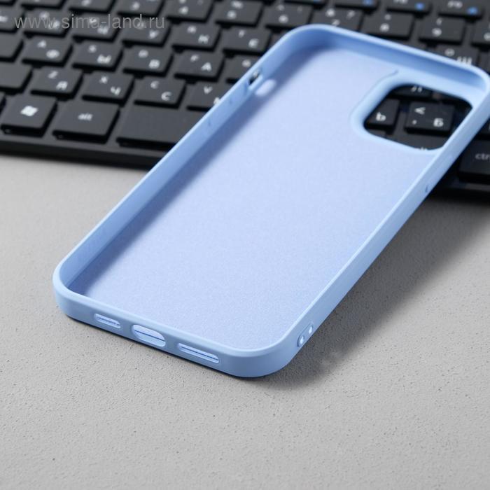 Чехол Activ Full Original Design, для Apple iPhone 12 Pro Max, силиконовый, голубой - фото 3