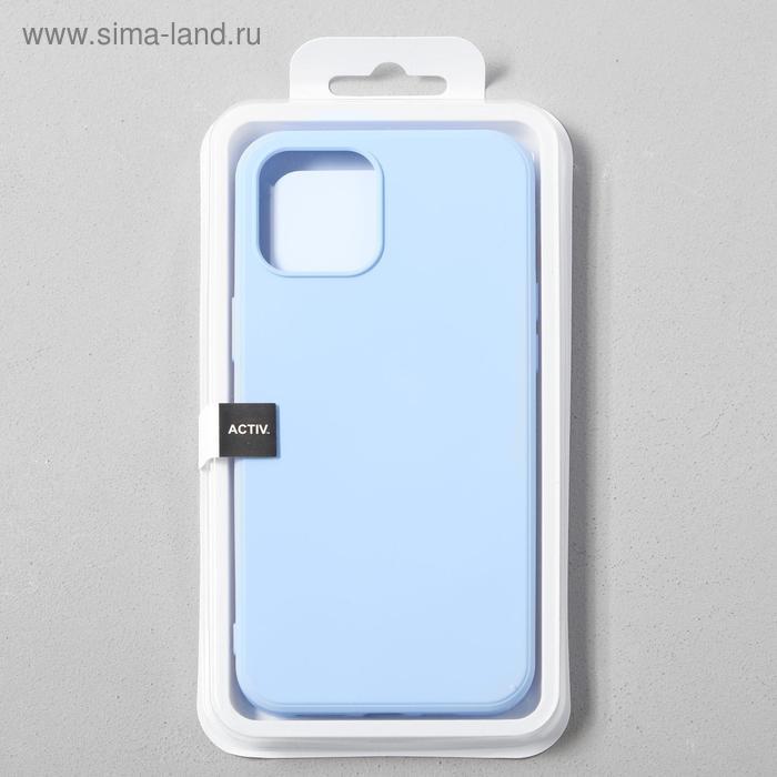 Чехол Activ Full Original Design, для Apple iPhone 12 Pro Max, силиконовый, голубой - фото 4