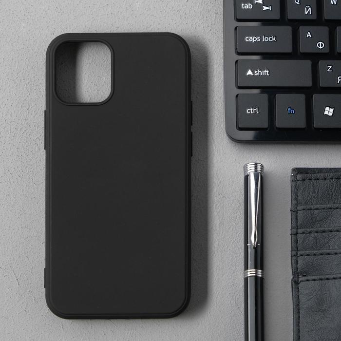 Чехол Activ Full Original Design, для Apple iPhone 12 mini, силиконовый, чёрный - фото 1