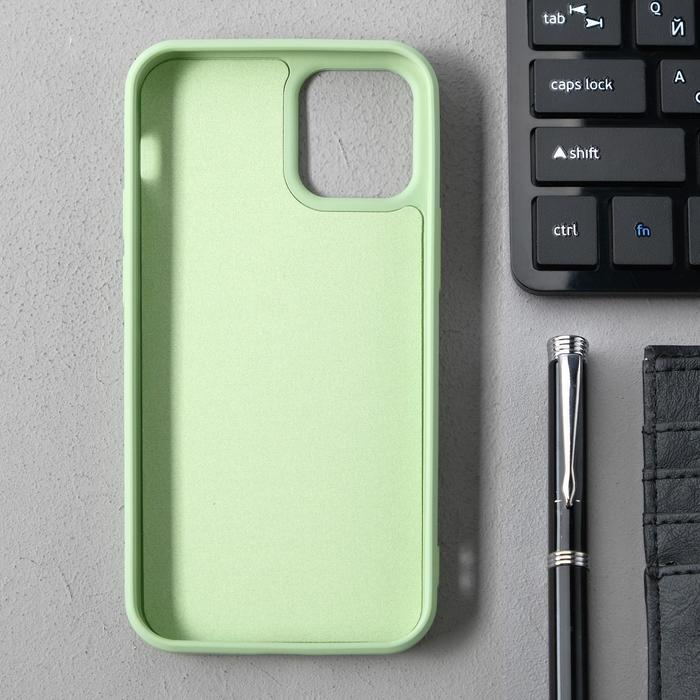 Чехол Activ Full Original Design, для Apple iPhone 12 mini, силиконовый, светло-зелёный - фото 2