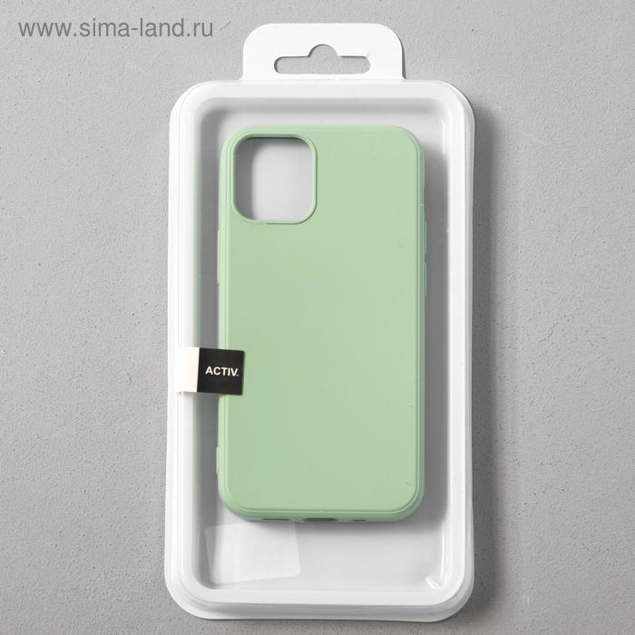 Чехол Activ Full Original Design, для Apple iPhone 12 mini, силиконовый, светло-зелёный - фото 4