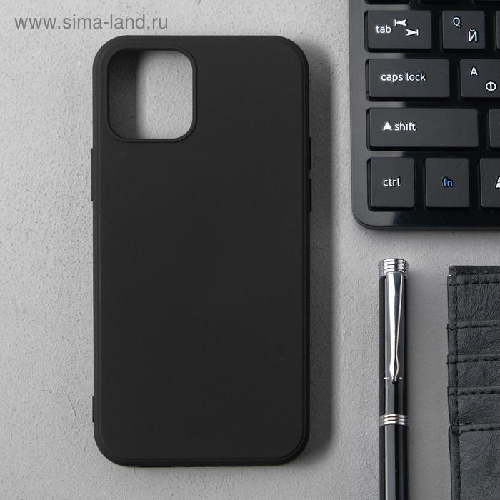 Чехол Activ Full Original Design, для Apple iPhone 12/12 Pro, силиконовый, чёрный - фото 1
