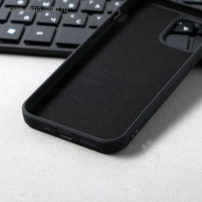 Чехол Activ Full Original Design, для Apple iPhone 12/12 Pro, силиконовый, чёрный - фото 3