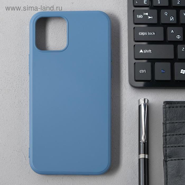 Чехол Activ Full Original Design, для Apple iPhone 12/12 Pro, силиконовый, синий - фото 1