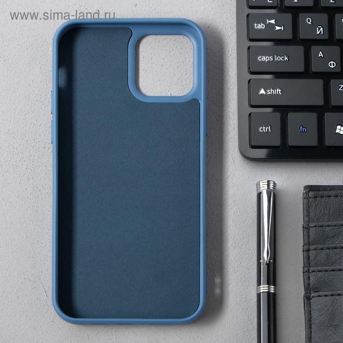 Чехол Activ Full Original Design, для Apple iPhone 12/12 Pro, силиконовый, синий - фото 2