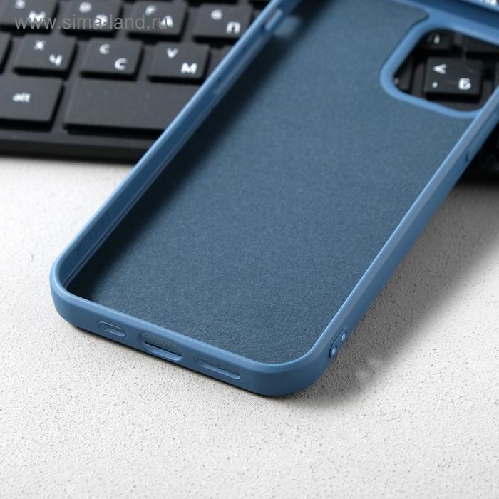 Чехол Activ Full Original Design, для Apple iPhone 12/12 Pro, силиконовый, синий - фото 3