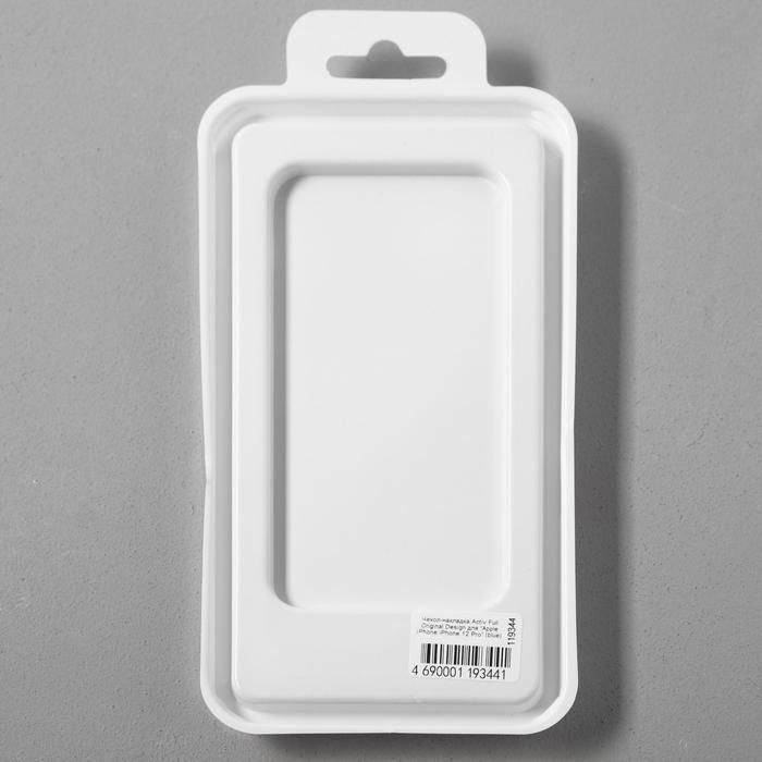 Чехол Activ Full Original Design, для Apple iPhone 12/12 Pro, силиконовый, синий - фото 5
