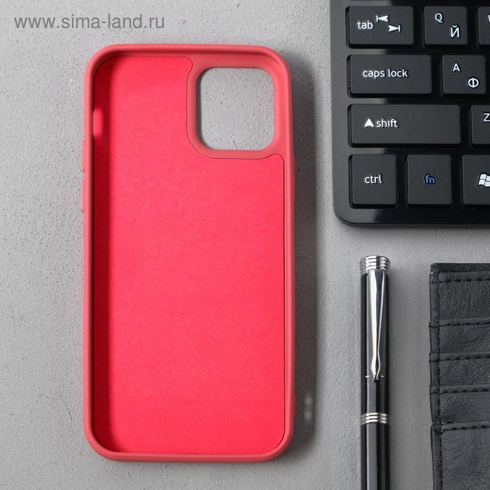 Чехол Activ Full Original Design, для Apple iPhone 12/12 Pro, силиконовый, бордовый - фото 2