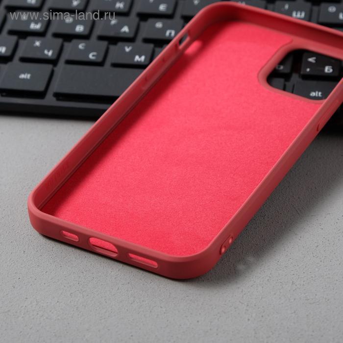 Чехол Activ Full Original Design, для Apple iPhone 12/12 Pro, силиконовый, бордовый - фото 3