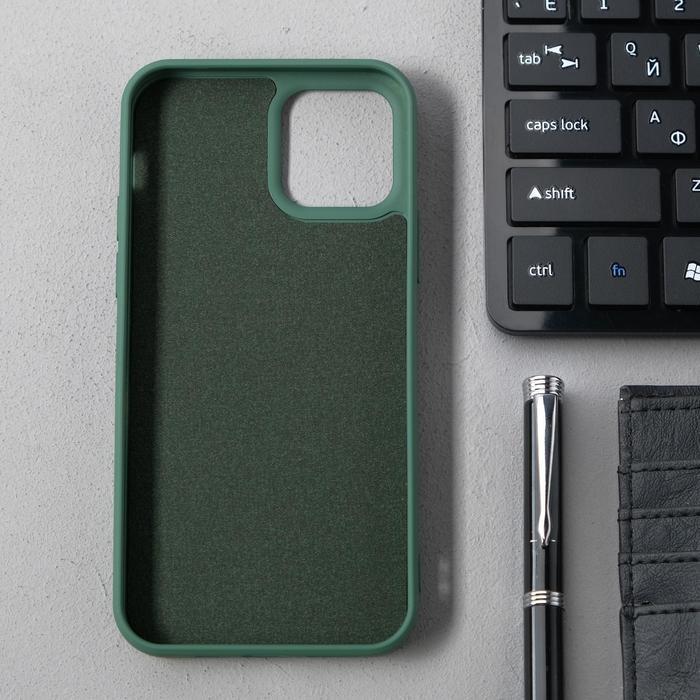 Чехол Activ Full Original Design, для Apple iPhone 12/12 Pro, силиконовый, тёмно-зелёный - фото 2