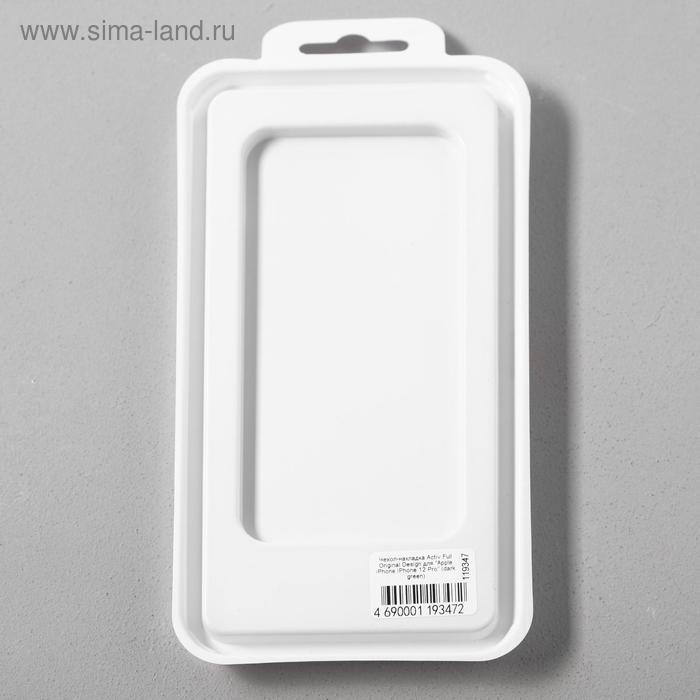 Чехол Activ Full Original Design, для Apple iPhone 12/12 Pro, силиконовый, тёмно-зелёный - фото 5