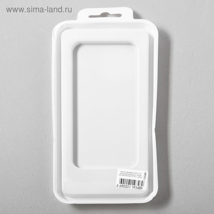 Чехол Activ Full Original Design, для Apple iPhone 12/12 Pro, силиконовый, серый - фото 5