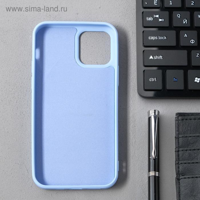 Чехол Activ Full Original Design, для Apple iPhone 12/12 Pro, силиконовый, голубой - фото 2