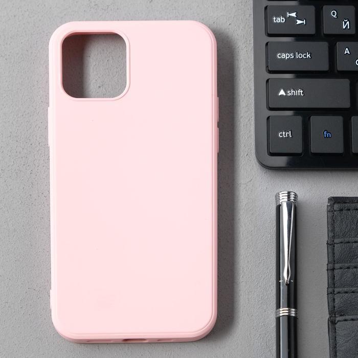 Чехол Activ Full Original Design, для Apple iPhone 12/12 Pro, силиконовый, светло-розовый - фото 1