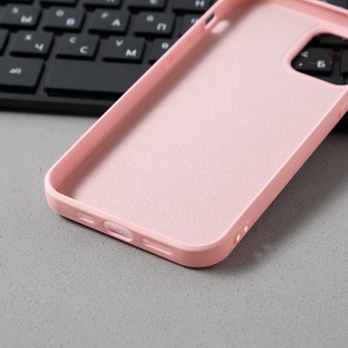 Чехол Activ Full Original Design, для Apple iPhone 12/12 Pro, силиконовый, светло-розовый - фото 3