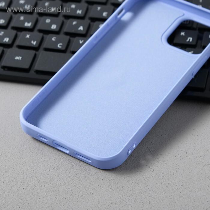 Чехол Activ Full Original Design, для Apple iPhone 12/12 Pro, силиконовый, светло-фиолетовый - фото 3