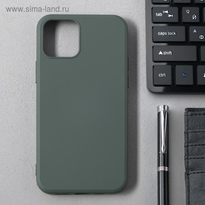Чехол Activ Full Original Design, для Apple iPhone 12/12 Pro, силиконовый, оливковый - фото 1