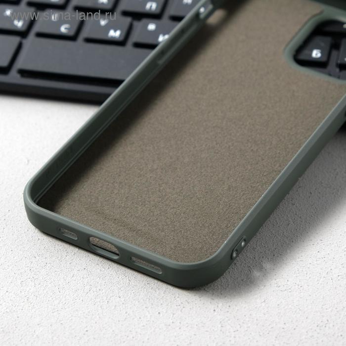 Чехол Activ Full Original Design, для Apple iPhone 12/12 Pro, силиконовый, оливковый - фото 3