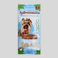 Зубочистики 'Деревенские лакомства' для собак мелких пород, кальциевые, 60 г