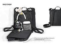 Сумка-рюкзак для мамы Happy Baby Black, фото 7