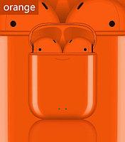 V88 tws, беспроводные наушники Bluetooth 5,0, наушники-вкладыши, сенсорное управление. Оранжевый.